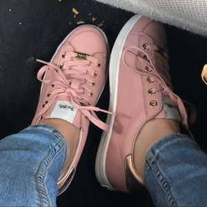 Coach Pale Pink Leather Sneakers